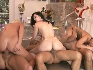 Eric Swiss, Keni Styles and Daniel Huntswoman hectic hot chicks in group intercourse