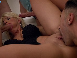 step-mom tiffany rousso three cocks drenched blowjob and undersized bukkakeBig bowels