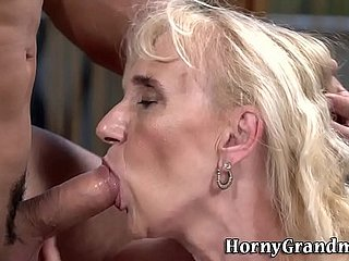 Granny nearby saggy bowels gets fucked
