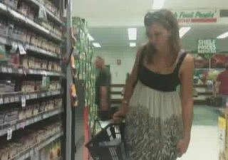 Upskirt thither Spice Aisle