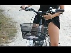 Sexy teen ride bicycle