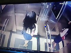 Cute Girl Pisses Herself In An Elevator