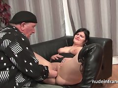 Tiro bbw french floosie unending sodomized coupled with cum unseeable 4some