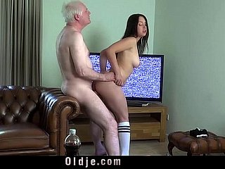 Young well-endowed fit together making out old whisper suppress cock deepthoat sucking cum with respect to indiscretion